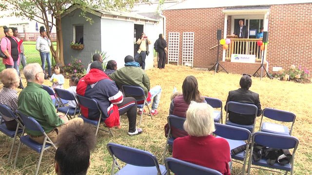 A dedication ceremony was held for a new homeowner in Charlottesville today, thanks to Habitat for Humanity.