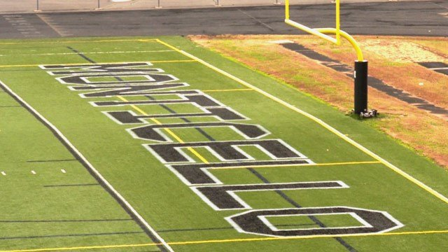 Football field at Monticello High School