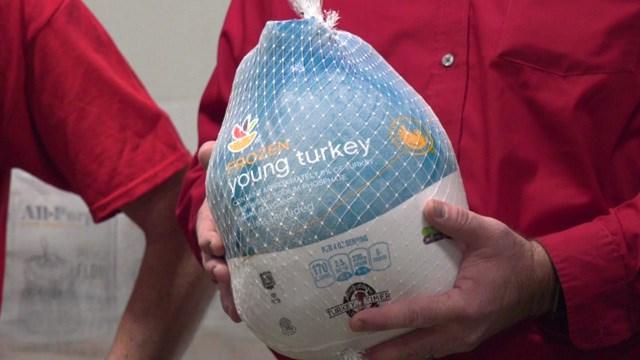The Harrisonburg Martin's donated 500 turkey's to needy families.