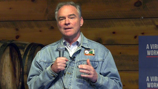 Tim Kaine speaking at Starr Hill Brewery
