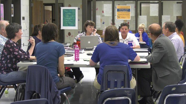 Staunton City School Board members met to discuss the new name of Robert E. Lee High School.