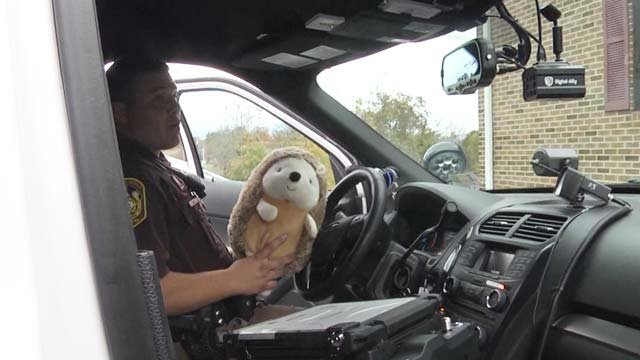 Each deputy carries around a Herbie to give to kids in stressful situations