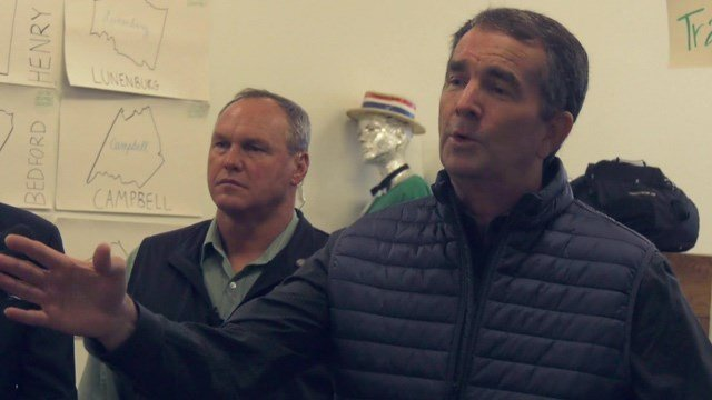 Governor Northam was in Charlottesville addressing gerrymandering issues in Virginia.