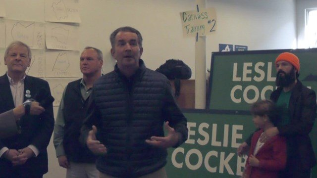 Northam says he has his focus set on Tuesday's election.