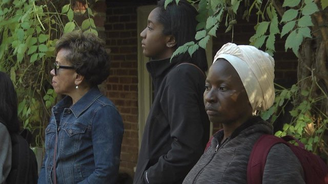 A tour group explored the influence of black women at UVA.