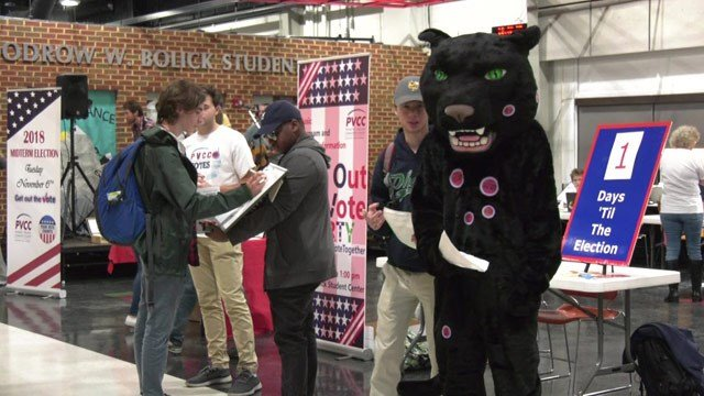 PVCC held a party to get students excited to vote.