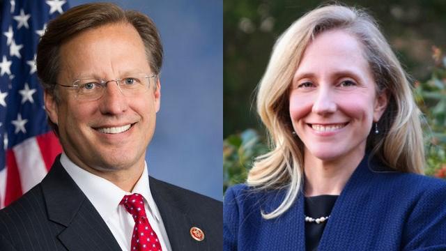 Republican Dave Brat and Democrat Abigail Spanberger.