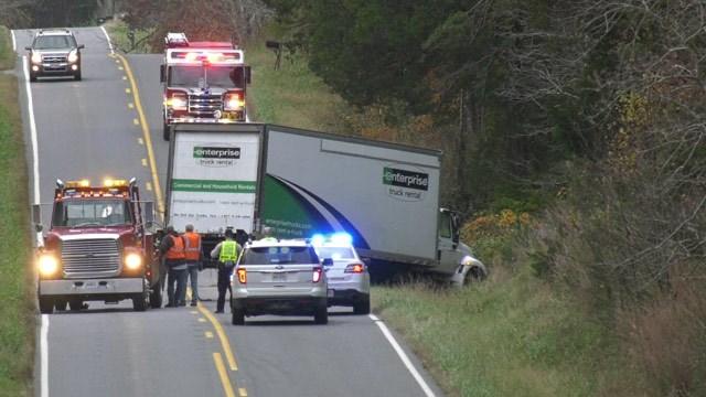 Crash scene along Route 15