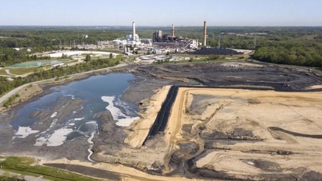 Coal ash ponds near Dominion Energy's Chesterfield Power Station (File image courtesy AP Photo / Steve Helber)