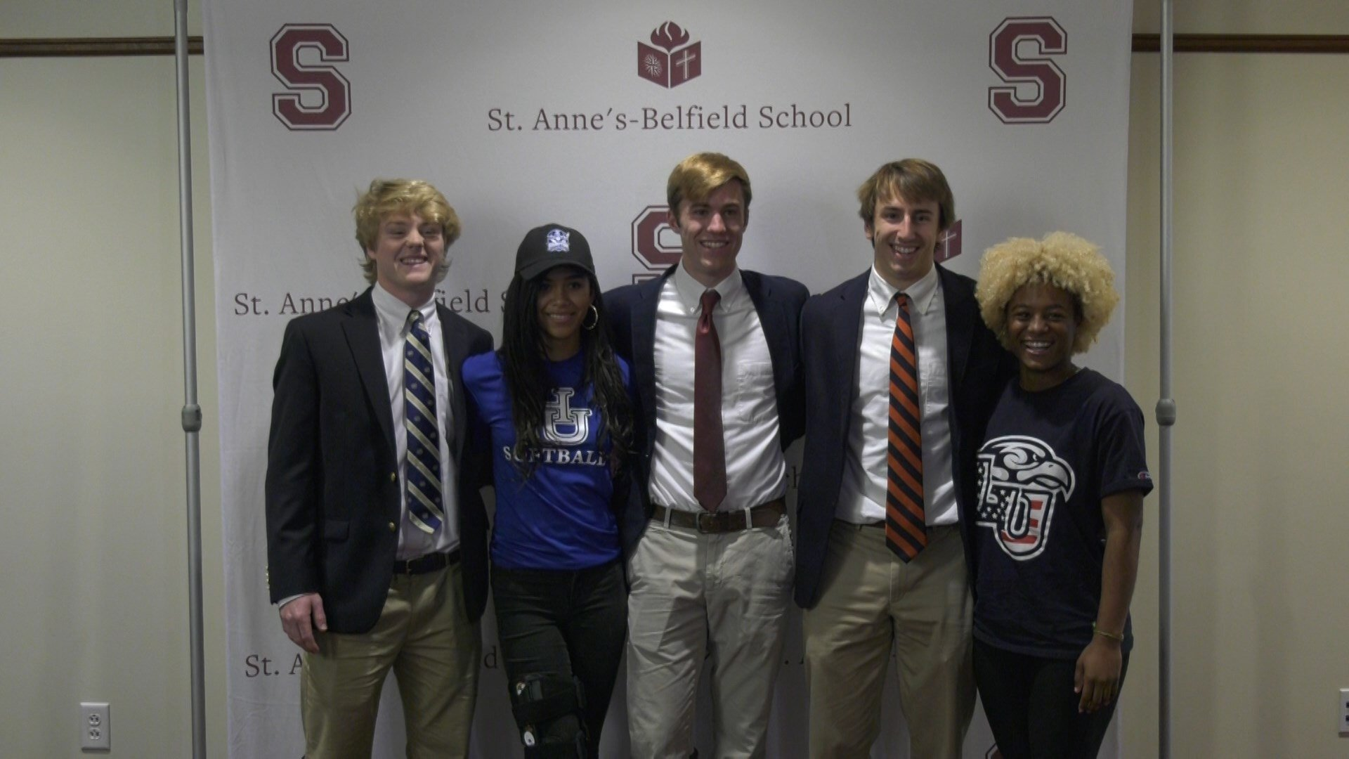 Five STAB student-athletes sign their letters of intent today.