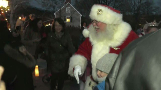 Santa Claus made a special appearance at the festivities.