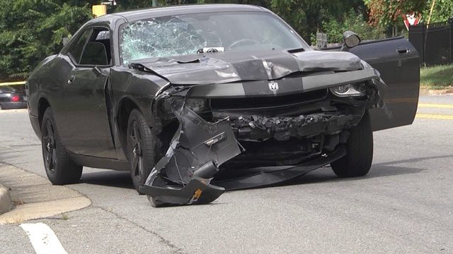 Car involved in the fatal Fourth St. incident following arrest on Monticello Ave. (FILE IMAGE)