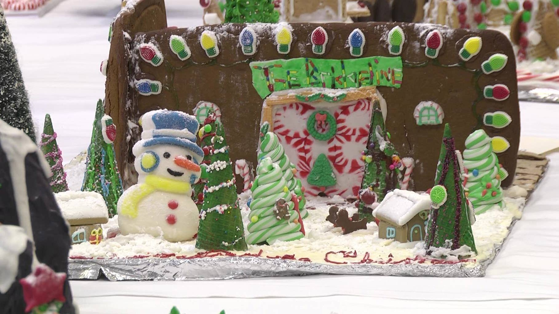 One of the many gingerbread houses entered in the contest.
