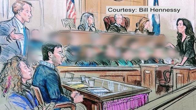 Courtroom sketch of James A. Fields, Jr. (Courtesy Bill Hennessy)