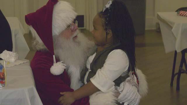 Kids also got a visit from Santa Claus