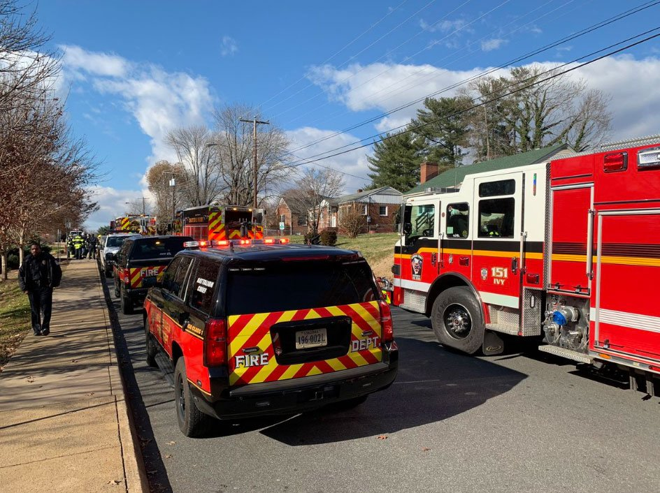 Crews on the scene at Forest Hills Park