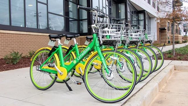 Lime bikes (Photo courtesy Charlottesville)