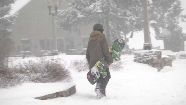 Snowboarders are excited about this early snowfall