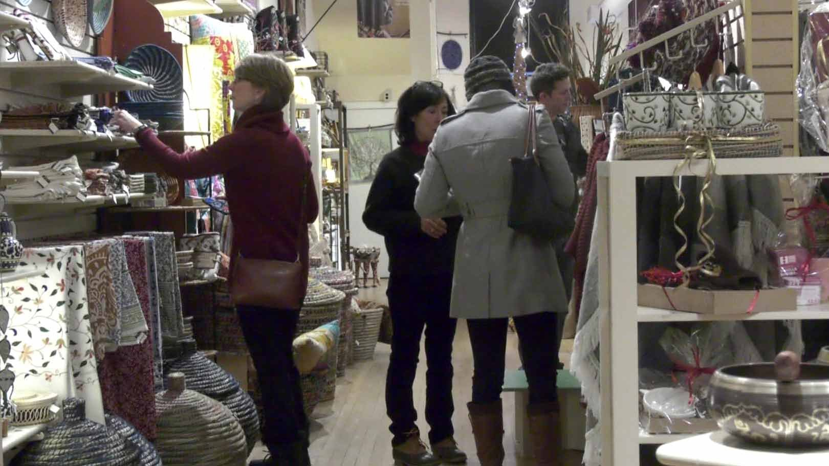 Shoppers at PVCC's Festival of Culture.