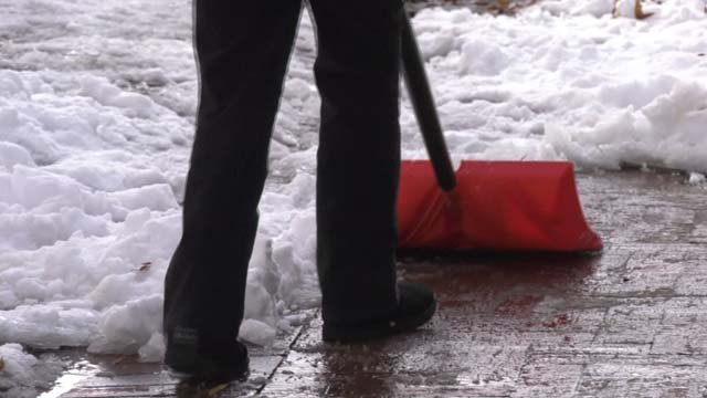 Property owners must clear the sidewalks of snow