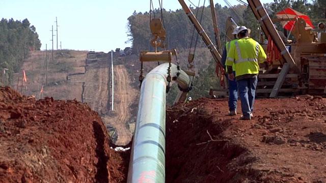 Work on the Atlantic Coast Pipeline (Courtesy Dominion Energy / Youtube)