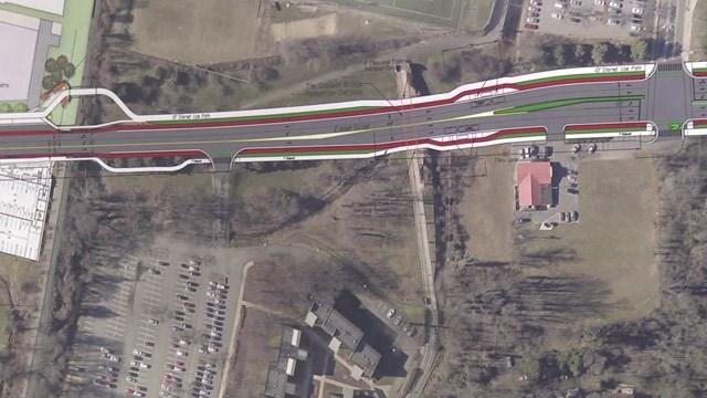 Proposed concept for Emmet Streetscape improvements