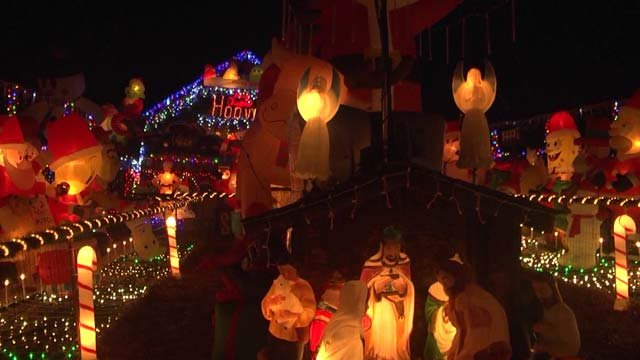 Norford's house has been decked out for the holidays for the past 25 years