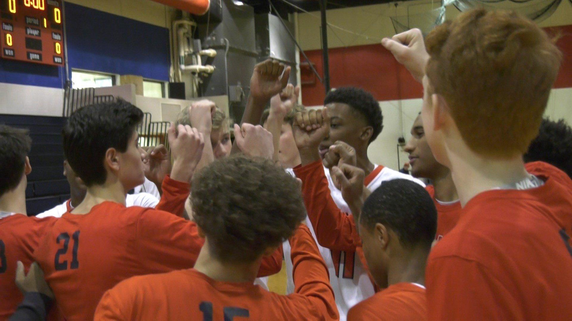 Albemarle boys basketball takes on Powatan.