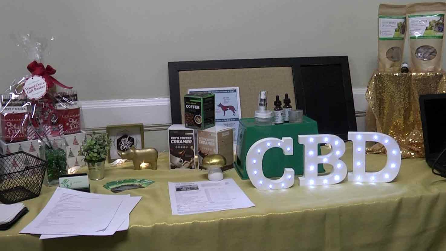 Table at the CBD information session.