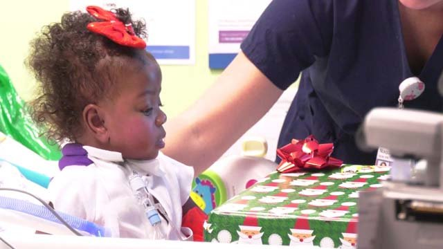 The hospital hopes to bring a little holiday spirit to the patients and parents