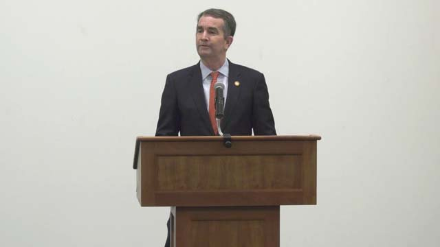 Governor Northam is discussing legislation ahead of the General Assembly session