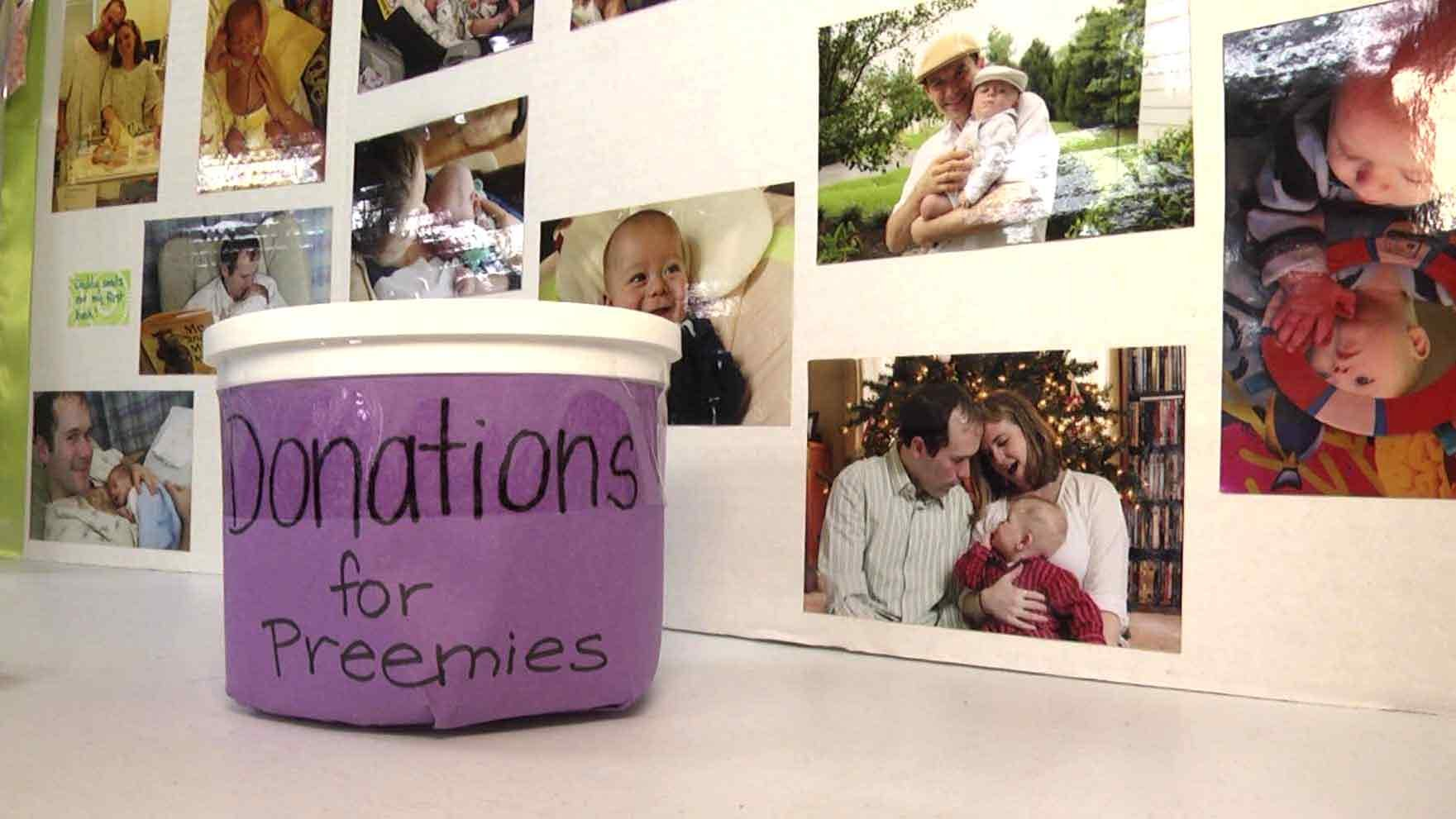 A donation jar for preemies.
