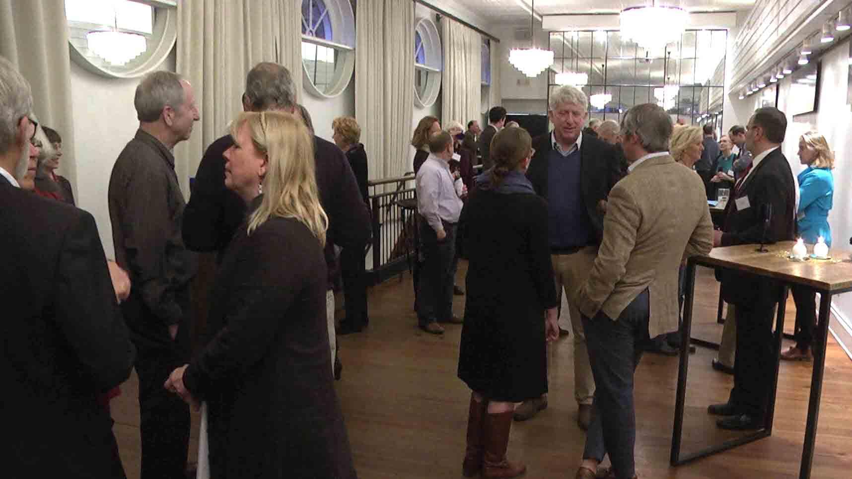 People at Delegate Toscano's send-off celebration.