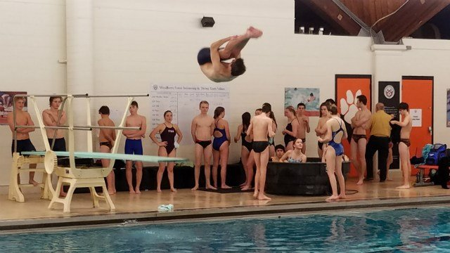 The diving competition took place at Woodberry Forest School on Wednesday