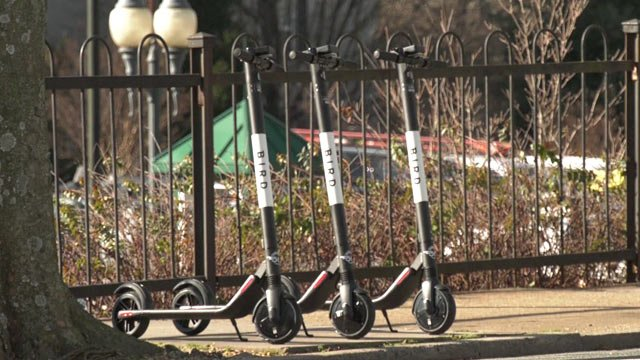 Bird electric scooters in Charlottesville