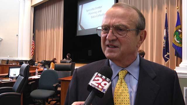 Jonno Alcaro, the school board's new chair
