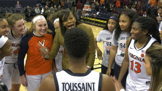 UVa head coach Tina Thompson earned her first ACC victory