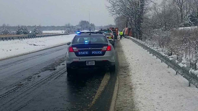 Virginia State Police at the scene of the accident.