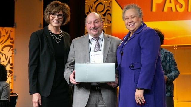 PVCC President Frank Friedman received the Carol Luthman Meritorious Service Award.