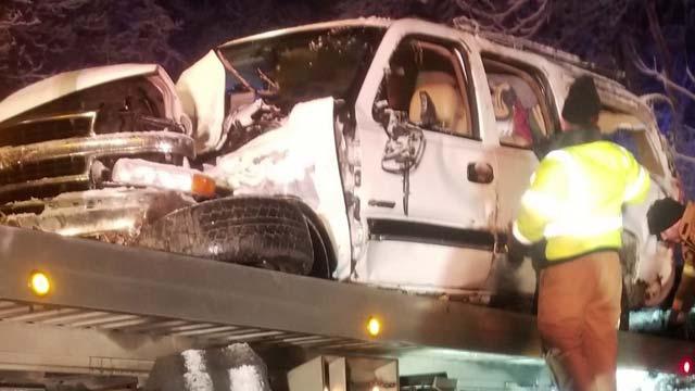The crash left one person dead