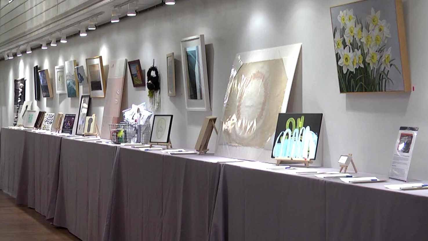 Some of the art being auctioned off for the Housing2Home Program.