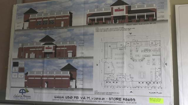 Plans for Wawa, which will be located off Rt. 29