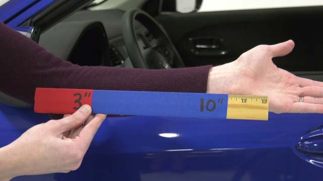 Researchers say you should sit 10 inches from the wheel