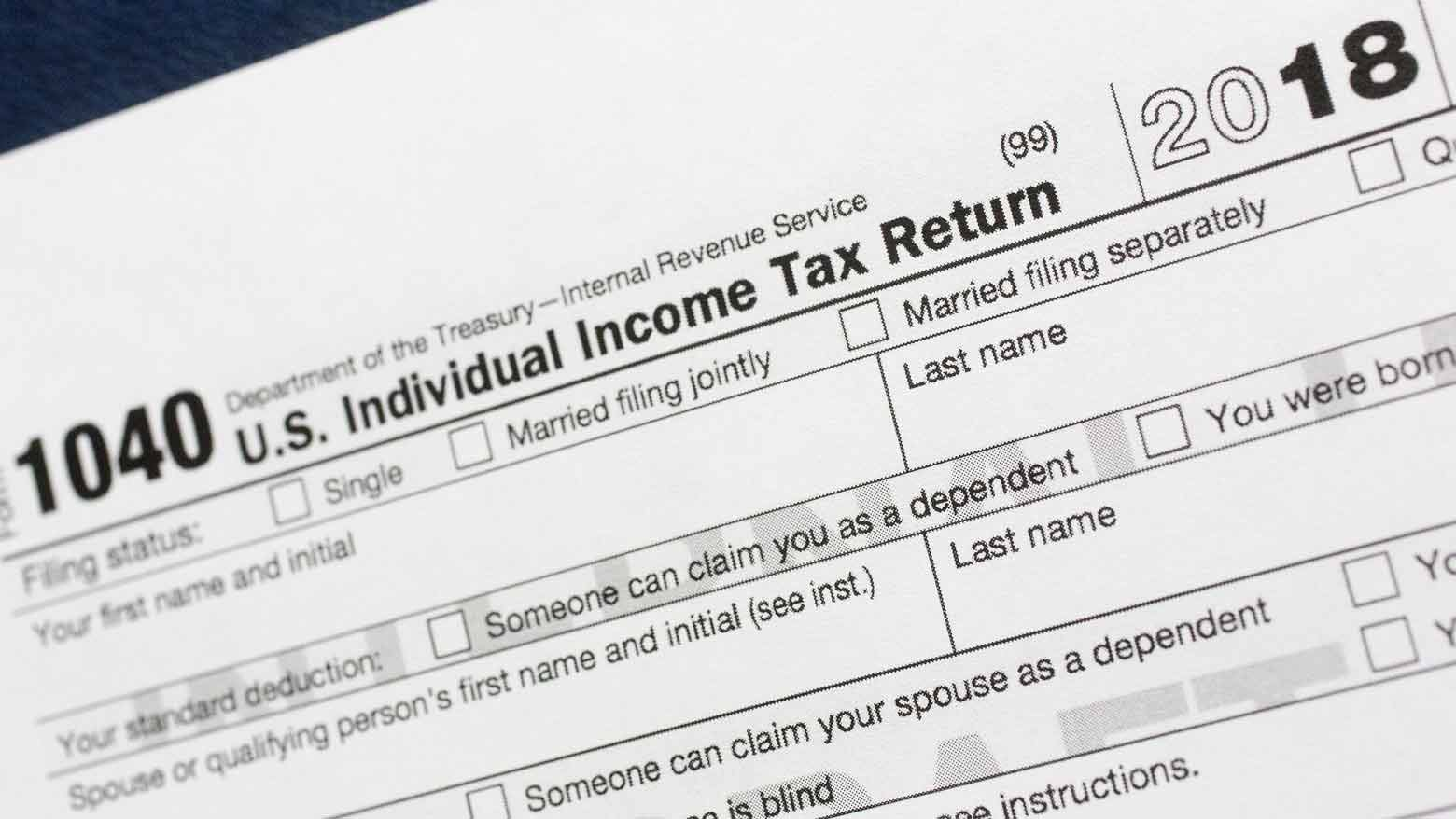 Individual income tax return (AP Photo/Mark Lennihan, file)