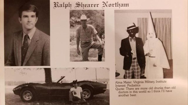 Northam in a 1984 yearbook page.
