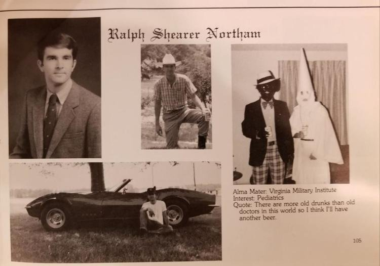Northam in a 1984 yearbook page (Credit: Daily Progress).