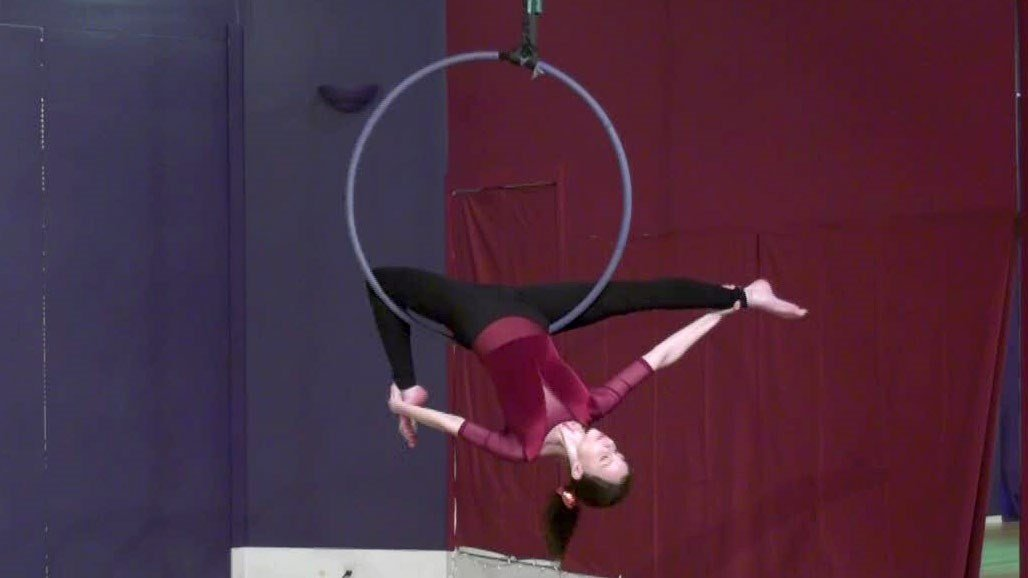 A portion of the 'Aerial Kid Show' performance.