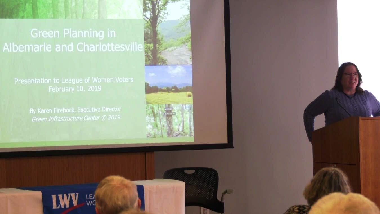 Karen Firehock speaking at the seminar.
