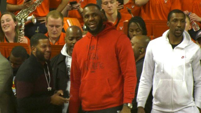 LeBron James was at JPJ to watch the showdown between Duke and UVa