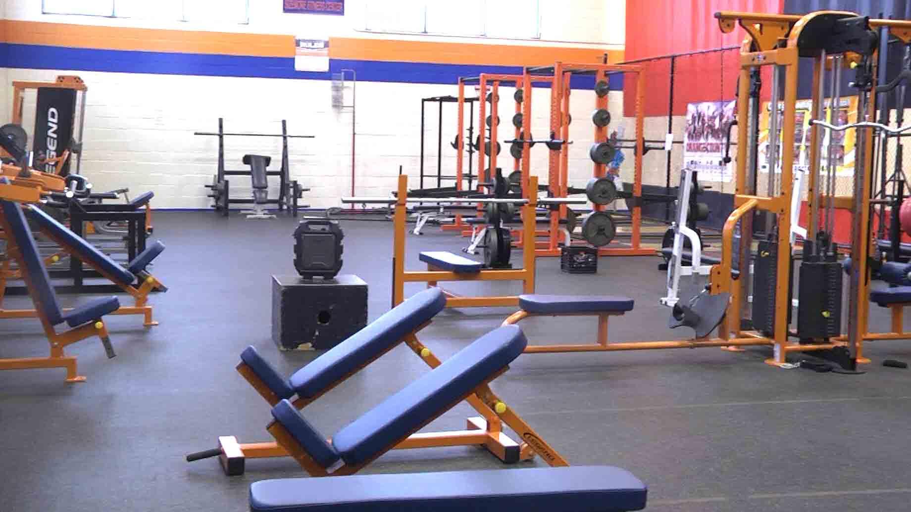 Orange County High School's Sizemore fitness center.